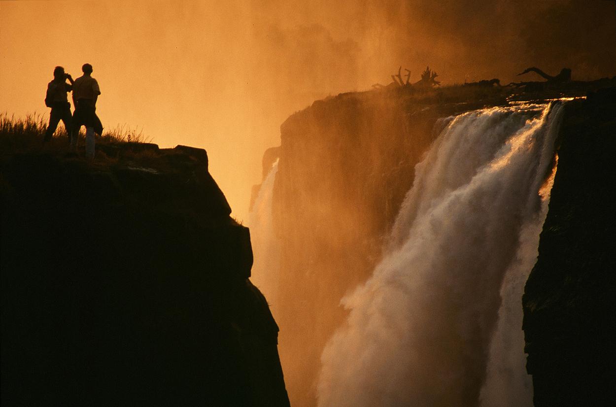 Die Viktoria Fälle in Zimbabwe