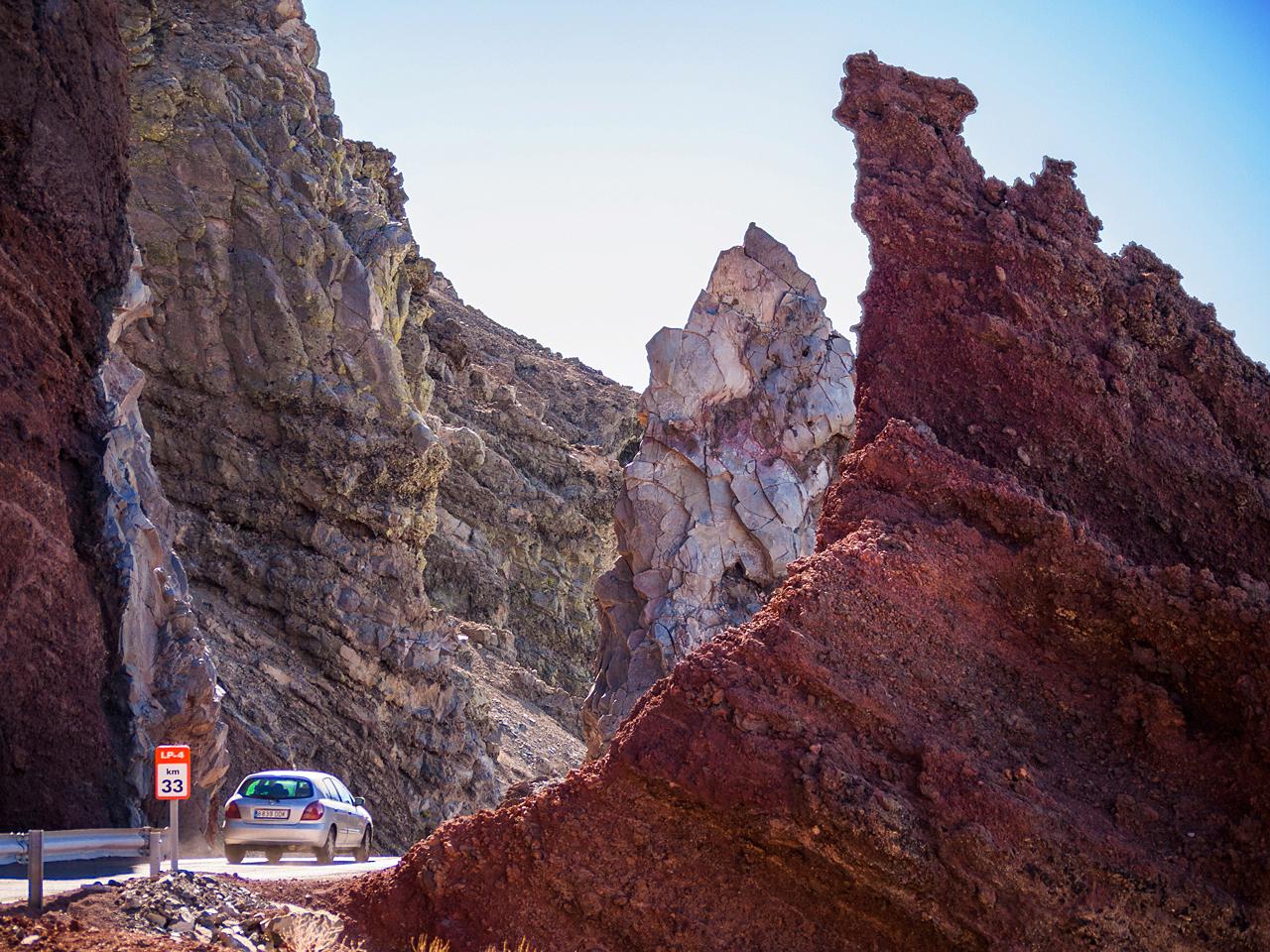 Straße zum Roque de Los Muchachos