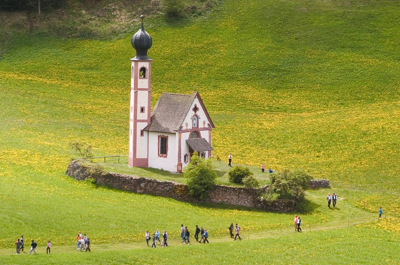 Nach dem Gottesdienst in Sankt Johann