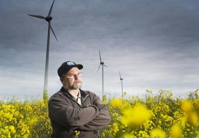 Windkraft-Landwirt