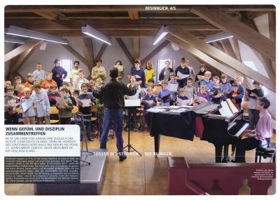 Der älteste Chor Deutschlands, der Stadtsingchor Halle im Ãbungsraum