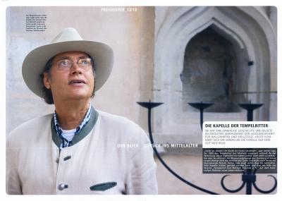 Achim Lipp kümmert sich um die Templer-Kapelle auf Mücheln