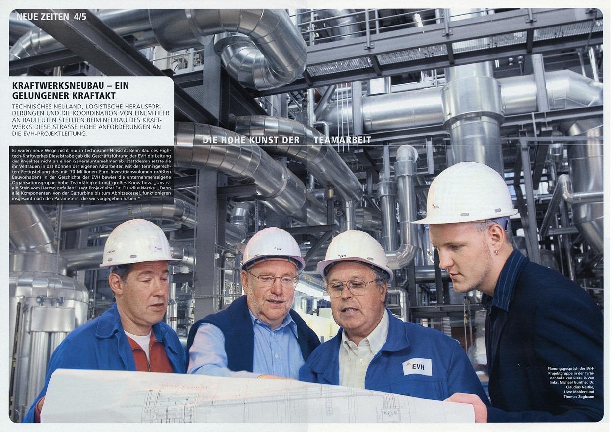 Planungsteam für den Neubau eines Kraftwerkes