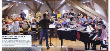 Der älteste Chor Deutschlands, der Stadtsingchor Halle im Übungsraum